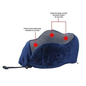 Image 4 - U Shaped Memory Foam Neck Pillows Soft Travel Pillow Neck Cervical Airplane Pillow 30*28*14CM Cervical Travel Healthcare Bedding