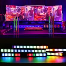 RGB Pickup Rhythm Night Lights Music Rhythm Car Desktop Atmosphere Lamp Aluminum Spectrum Lighting  Bar Bedroom Computer Decor