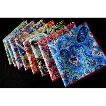 8 Adet Erkek Renkli Paisley çiçek Mendil Cep Meydanı Düğün Parti YXTIE0317A