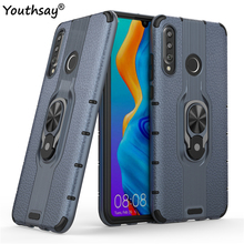 For Huawei P30 Lite Case TPU+PC Phone Finger Holder Bumper Cover Funda Youthsay