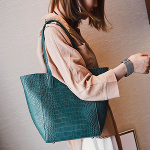 Image 5 - DAUNAVIA Women Alligator bucket bags Handbags Crossbody Bags For Women Shoulder Bags Messenger Bag Designer Leather Handbags