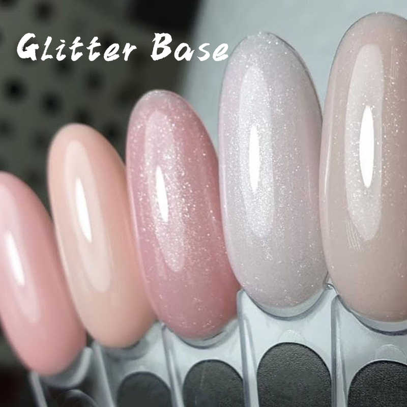 Gel Polish Set Kuku Dekorasi Warna Basis Gel 2 In 1 Glitter Manikur Kamuflase Basis Gel Nail Art 8Ml kuku Polandia TSLM1