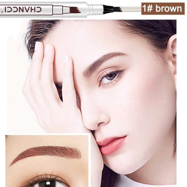 Microblading Tattoo Eyebrow Pencil Long Lasting Waterproof Fork Tip Makeup Ink Sketch Eye Brow Pen MH88 4