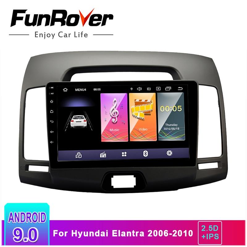 Funrover Android Multimedia-Player Navigation Hyundai Elantra Car-Radio Dvd-Stereo 0