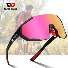Cycling Glasses Eyewear Road-Bike West Biking Protection UV400 3-Lens Polarized Women