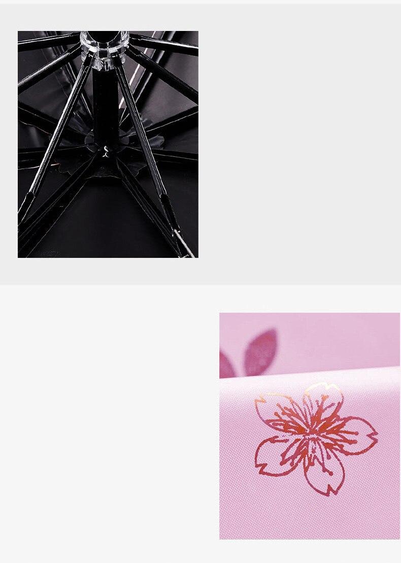 de cerejeira ouro feminino guarda-chuva para as