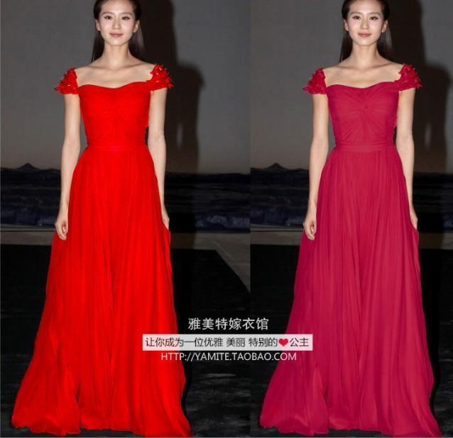 Cheap Free Shipping Robe De Soiree 2018 Fashion Sexy Vestido De Festa Longo Cap Sleeve Flowers Party Gown Bridesmaid Dresses