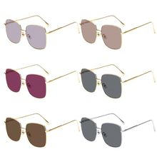Oversized Sunglasses Women Square Shades Metal Frame UV Protection Sun Glasses цена 2017