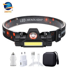 Flashlight Headlamp-High-Power ZHIYU Outdoor Portable 18650 Battery Camping Mini Stepless