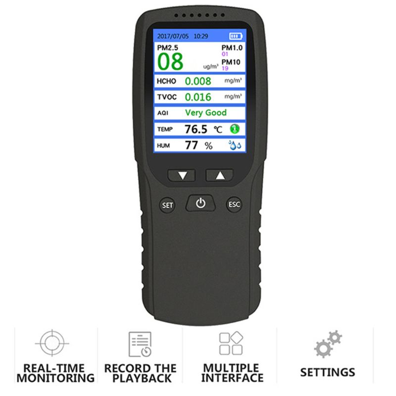 Air Quality Monitor, Indoor Air Pollution Meter Micro Dust Handheld Tester
