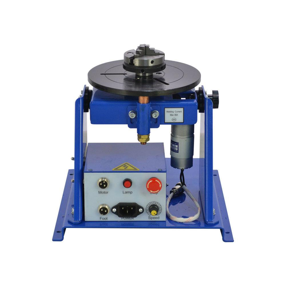 Jaw Welding 220V 5inch 3 Lathe 2 10KG Rotary Table Chuck Mini Turntable Positioner