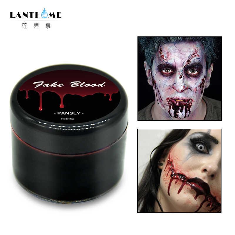 DIY Cos Halloween Makeup Ultra Realistis Darah Palsu Wajah Cat Simulasi Manusia Vampir Di Alat Peraga Festival Perlengkapan Pesta