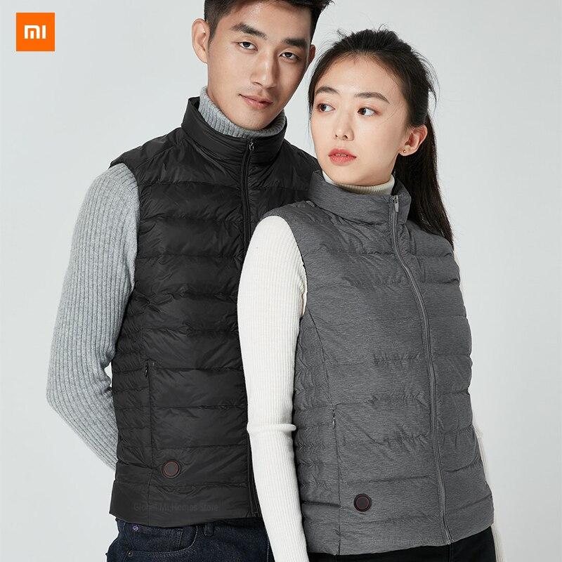 Xiaomi Mijia graphène contrôle intelligent de la température fièvre duvet d'oie gilet couple modèles 4 fichiers contrôle de la température
