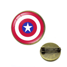 Avengers Endgame Superhero Captain American Marvel Thanos Infinity Gauntle Pin Brooches Badge Spiderman Batman Cosplay Jewelry