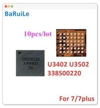 BaRuiLe 10 sztuk U3402 U3502 mały Audio IC 338S00220 dla iphone 7 7plus części zamienne