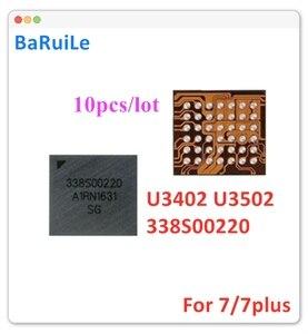 Image 1 - BaRuiLe 10pcs U3402 U3502 קטן אודיו IC 338S00220 עבור iphone 7 7 בתוספת החלפת חלקים