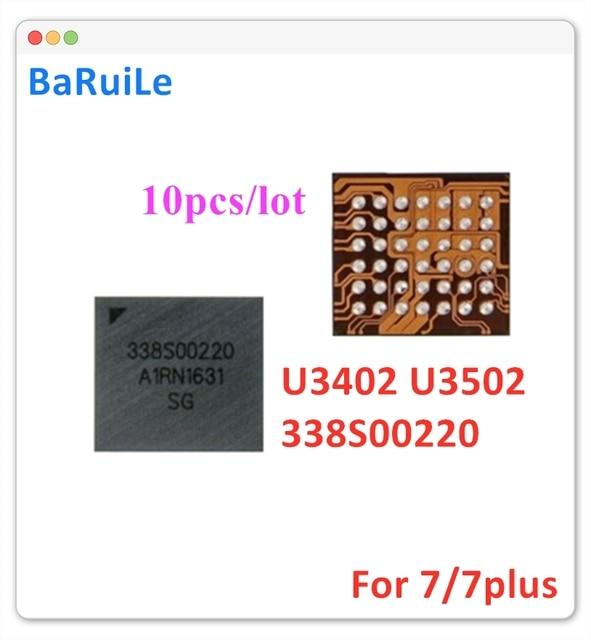 BaRuiLe 10pcs U3402 U3502 קטן אודיו IC 338S00220 עבור iphone 7 7 בתוספת החלפת חלקים