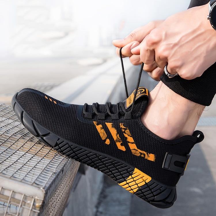 homens botas de segurança anti-punctura botas de