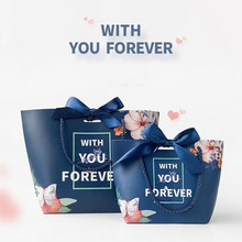 European Flower Candy Box With You Forever Gift Bag Wedding Favors and Gifts for Guests Souvenirs Paper with Handles