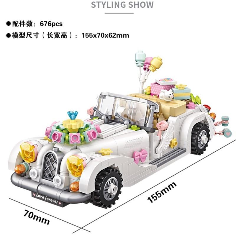 LOZ Mini Blocks Vehicle Building Bricks Luxury Wedding Party Mini Car Model Toy Micro Blocks Girls Gifts Toys For Children 1119