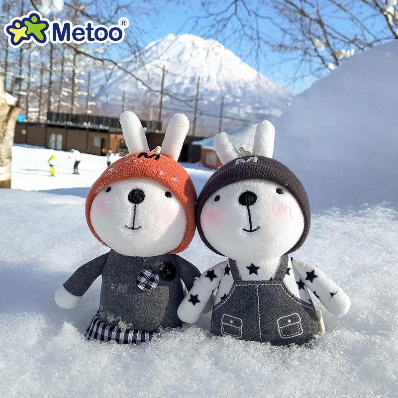 Mini Metoo Doll Soft Plush Toys Stuffed Animals For Girls Baby Cute Beautiful Rabbit Small Keychians Pendant For Kids Boys