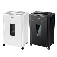 Deli Paper Shredder 9904 Electric Office Granule Mute High Power File Shredder Broken Disc Bank Card