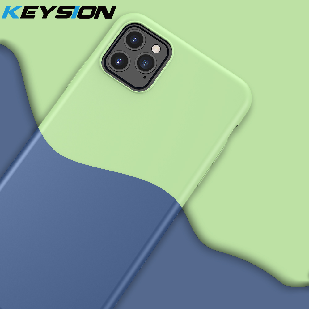 KEYSION Liquid Silicone Case For iPhone 11 Pro Max Soft TPU Shockproof Cover X XS XR 6s 7 8 Plus