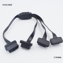 ישר ראש 16 פין OBD 1 כדי 3 ספליטר כבל חוט כבלים מאריכים זכר משולש נקבה מחבר עבור מרובה OBD2 ציוד