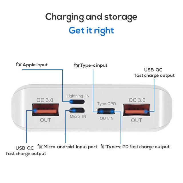 QC 3.0 szybkie ładowanie USB Power Bank Shell ładowarka Box LED cyfrowy wyświetlacz światła 8x18650 ładowarka Box dla Xiaomi