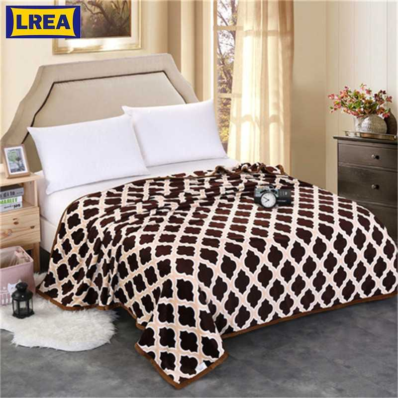 High Density Winter Adult Fleece Blanket плед Throw  on Sofa Bed Plane Sleeping Sofa Plaid Bedspread Portable