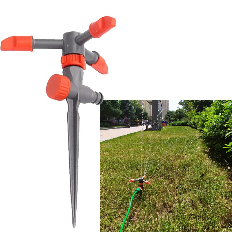 Garten Bauernhof Rasen Bewässerung Bewässerung Sprinkler System 3 Arm Dreh 360 Grad