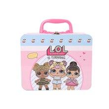 ЛОЛ Сюрприз куклы подлинная коробка обеда для детей Лол сумки посуда действия игрушки подарки на день рождения девушки 19.5*9.5*15.5 см