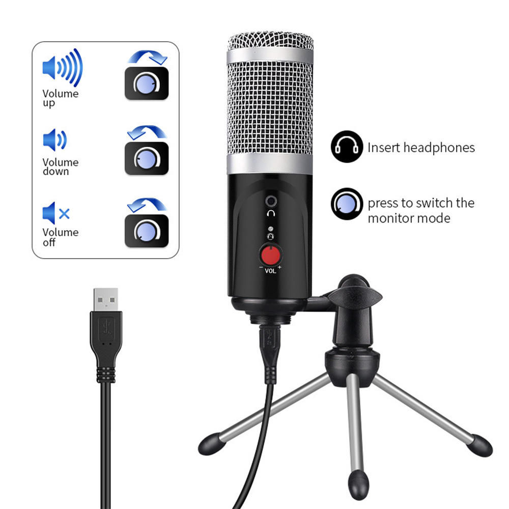 Studio Microphone With Tripod  4