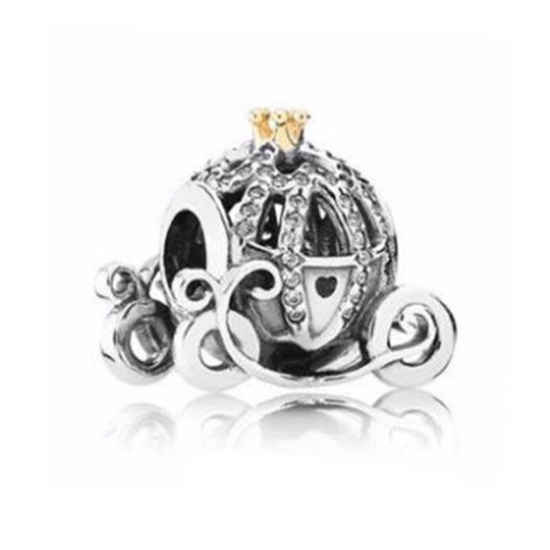 «Золушка», «Тыква Шарм 100% реальные 925 пробы серебро Золушки Тыква Подвески подходят к оригинальному браслету, сделай сам, ювелирное изделие
