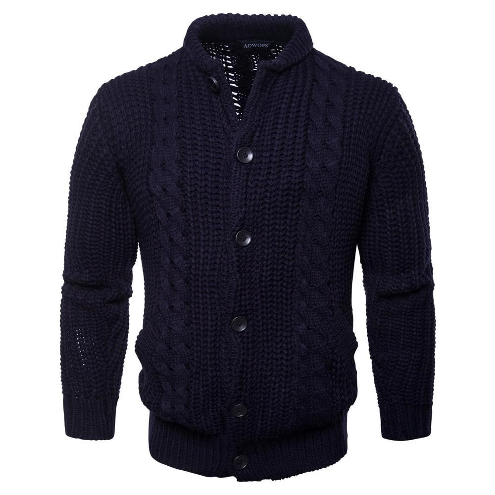Men Autumn Thick New Fashion Business Casual Sweater  Men Slim Fit Knitwear Outwear Warm Winter Sweaters