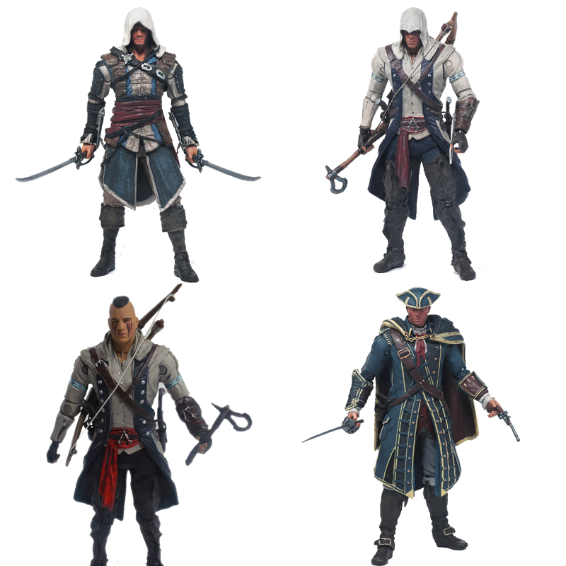 Creed Series 4 Mohawk Connor Haytham Edward Kenway  Action Figure Model Toys Collection Figure Model Toys Doll Christmas Gift