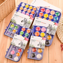 watercolor palette paint Solid Watercolor Paint Set With Paintbrush Bright Color Painting Pigment For Student Art Supplies