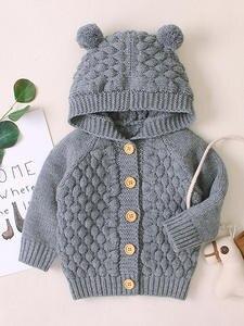 LZH Jacket Coat Outerwear Infant Autumn Baby Kids Winter Hooded Girl for Newborn Knitting