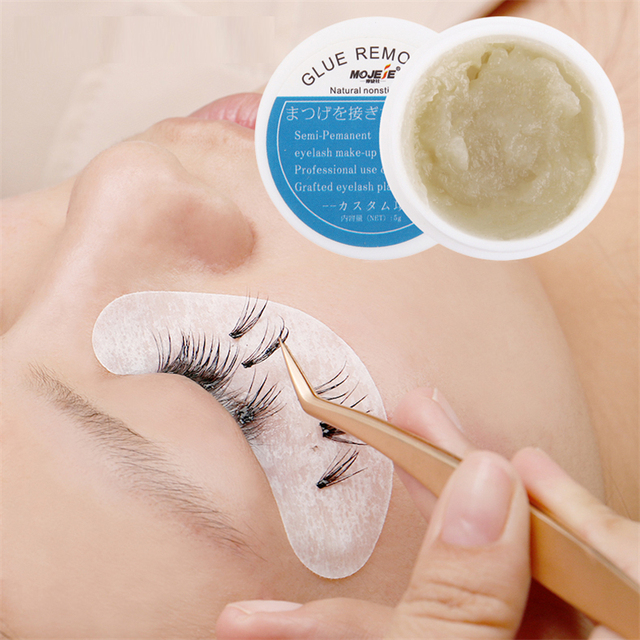 Grafting Eyelash Extension Makeup Remover Glue 5g Non-irritating Plant Adhesive Gel Remover Eye Lashes Make Up Remover Cream 1