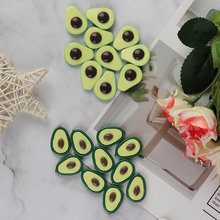 Slime-Supplies Fluffy Charms-Accessories Addition Avocado-Slices Resin Toy 10pcs