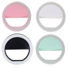 LED Selfie Ring Light USB Charge Supplementary Lighting Night Darkness Selfie Enhancing For Phone Fill Light Flashes