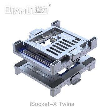 цена на QianLi iSocket for iPhone Repair Double Side Logic Board Fixture for iPhone X Motherboard Fixture Upper/Lower Layering Platform
