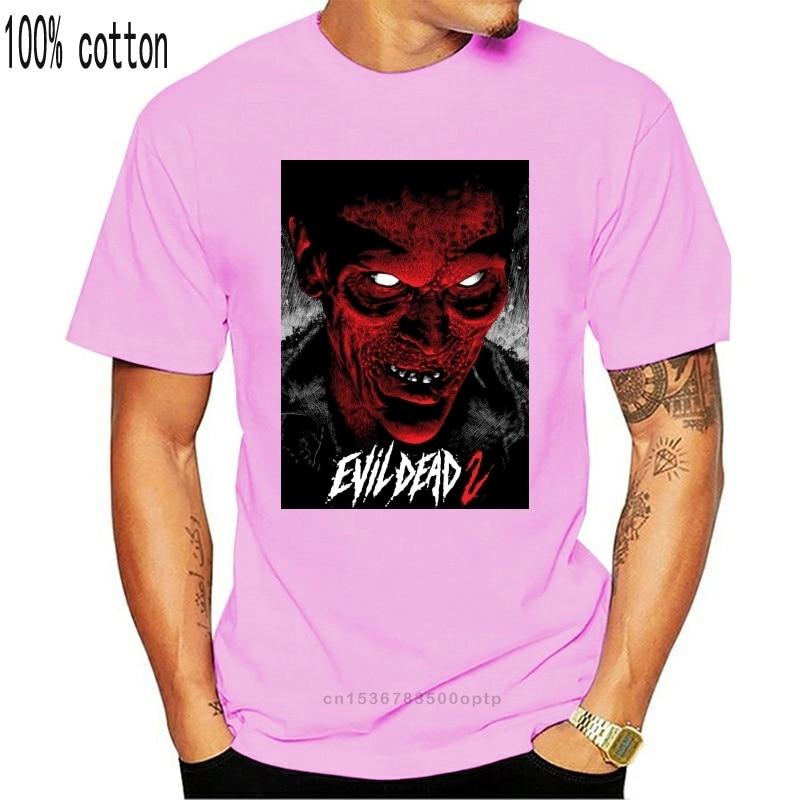Зловещие мертвецы 2 V 12 T рубашка черный постер фильма ужасов все размеры S-3Xl уличная футболка