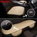 Деловая клетчатая Автомобильная кожаная накладка на сиденье  Накладка для Audi A3 A4 B8 B6 A6 Mercedes Benz W205 W204 Skoda Octavia A5 A7 2 Abarth