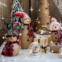 Home Decoration Festival Party Supplies Twine Wrap Christmas Tree Christmas Snowman Desktop Ground Decor Festival Art Atmosphere