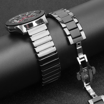 Ceramic strap For Samsung Galaxy watch 46mm band Gear S3 Frontier bracelet s 3 46 22 mm Huawei watch GT2 strap 22mm watch band