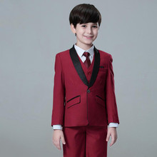 Kid Casual Blazers Suit For Baby Boy Black Child Coat Fashion Children Jacket   Costume For Boy Blue Graduation Suit H013