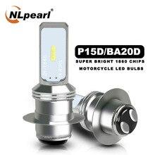 Motorcycle Headlight Bulbs P15d Led Fog-Lamp Nlpearl CSP 12V for 6000K White12v 1860SMD