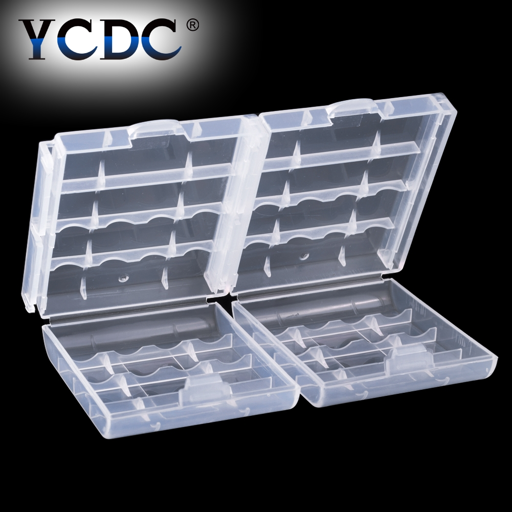 4PCS 2/4x 18650 4xAA 4x AAA Battery Holder Plastic Battery Storage Box Organizer Container For Power Bank 18650 AA AAA Batteries Battery Storage Boxes    - AliExpress