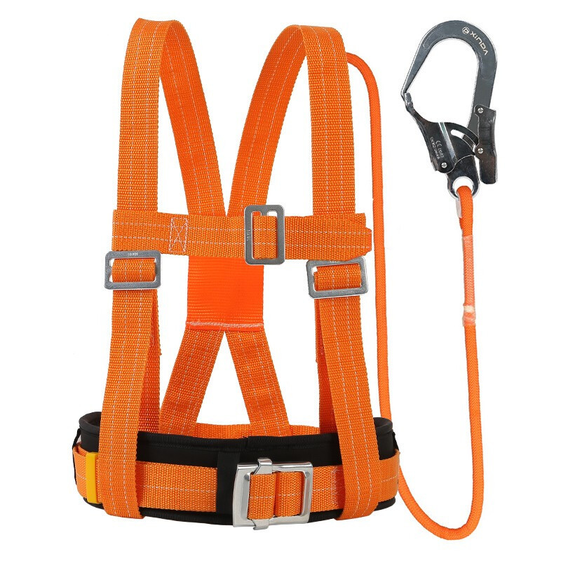 Five-Point Safety Belt Aerial Worker Outdoor Construction Protection Waist Belts Safety Electrician Belt Rescue Survival Rope
